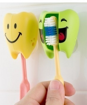 FLIPPER Onolulu SB - 2-pack uchwytów do szczoteczki do zębów, wzór Speedy&Blurry