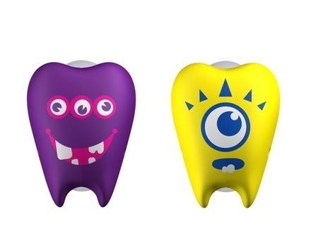 FLIPPER Toothfairy OY - 2-pack uchwytów do szczoteczki do zębów, wzór Oh & Yeah