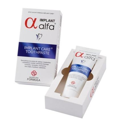 ALFA IMPLANT Toothpaste - specjalistyczna pasta do mycia zębów i implantów 75 ml