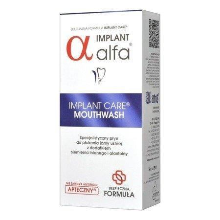 ALFA Implant Care- leczniczy płyn do płukania jamy ustnej przeciw stanom zapalnym jamy ustnej, 200 ml