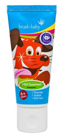 BRUSH-BABY - pasta do zębów dla dzieci w wieku powyżej 6 lat, smak miętowy, 50 ml