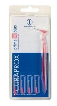 CURAPROX CPS 08 Prime Plus - szczoteczki do przestrzeni międzyzębowych z uchwytem, różowe