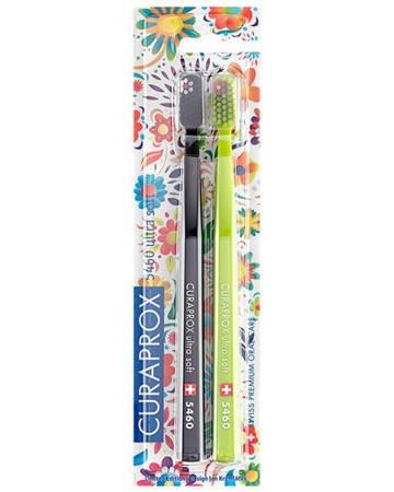 CURAPROX CS 5460 HAWAI DUO Ultra Soft - ultra miękka szczoteczka do mycia zębów i masażu dziąseł, zestaw 2 sztuki