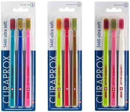 CURAPROX CS 5460 TRIO PACK Ultra Soft - ultra miękka szczoteczka do mycia zębów i masażu dziąseł, zestaw 3 szt
