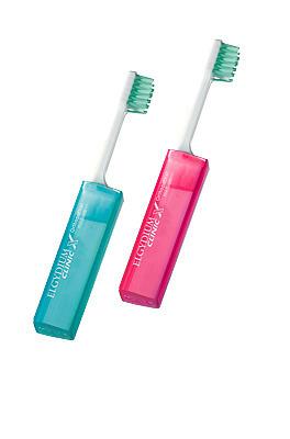 ELGYDIUM Clinic X Orthodontic Pocket - ortodontyczna składana szczoteczka kieszonkowa do mycia zębów dla dorosłych osób z aparatem ortodontycznym