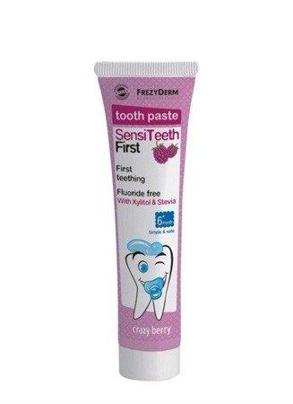 FrezyDERM Sensiteeth pasta od pierwszego ząbka bez fluoru, 40 ml, czarna jogoda