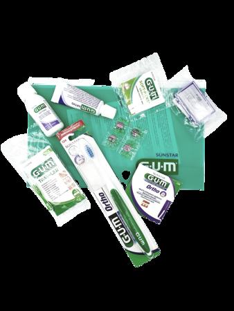 GUM SUNSTAR ORTHO set - zestaw ortodontyczny w kosmetyczce