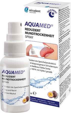 MIRADENT AQUAMED specjalistyczny aerozol nawilżający błony śluzowe jamy ustnej, 30 ml