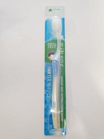 ORTO DENT COMFORT MIDI Turtle - szczoteczka do mycia zębów z ,niebieska