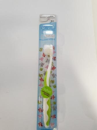 ORTO DENT Mini Silver (Z) - antybakteryjna szczoteczka do mycia zębów z drobinkami srebra dla dzieci w wieku 0-5 lat, zielona