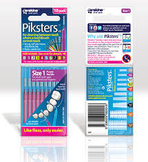 PIKSTERS Regular 1 - szczoteczki międzyzębowe 0.45, fioletowe 10 szt