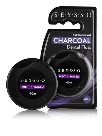 SEYSSO SF Carbon nić do zębów z węglem aktywnym, 40m