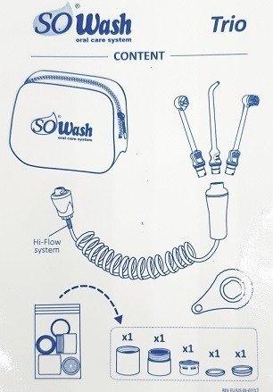 SOWash TRIO irygator wodny zestaw z saszetką