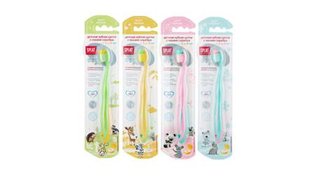 Splat Junior antybakteryjna szczoteczka z jonami srebra do codziennego mycia zębów dla dzieci w wieku 2-8 lat - różowa