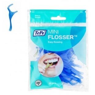TePe Mini Flosser - nić z wykałaczką, 36 szt, niebieskie