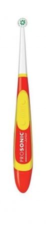 VISIOMED Prosonic Junior - szczoteczka nano-soniczna na baterie dla dzieci w wieku 3+, czerwona