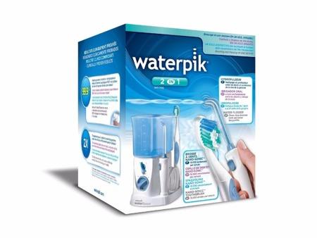 Waterpik WP-700 E2 irygator dentystyczny - zestaw ze szczoteczką Nano Sonic AT-50+ 4 końcówki (PL)
